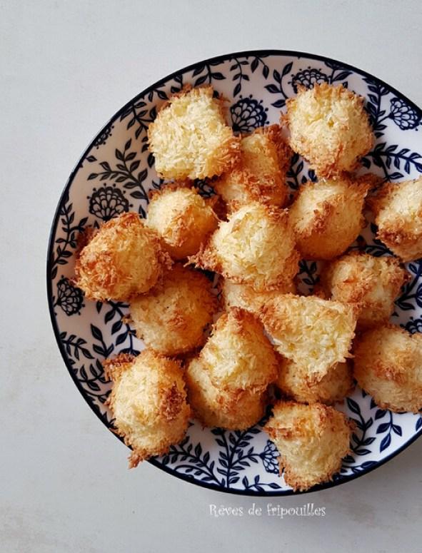 Rochers coco faciles et rapides à faire - Sans gluten et sans lactose !