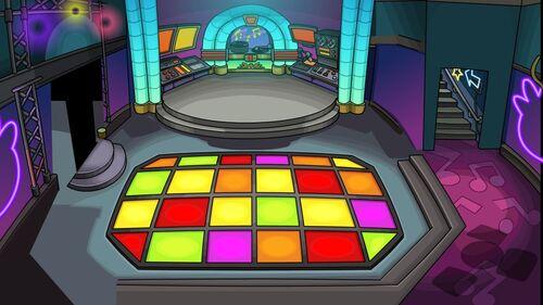 Musiques et salles de la fête des puffles