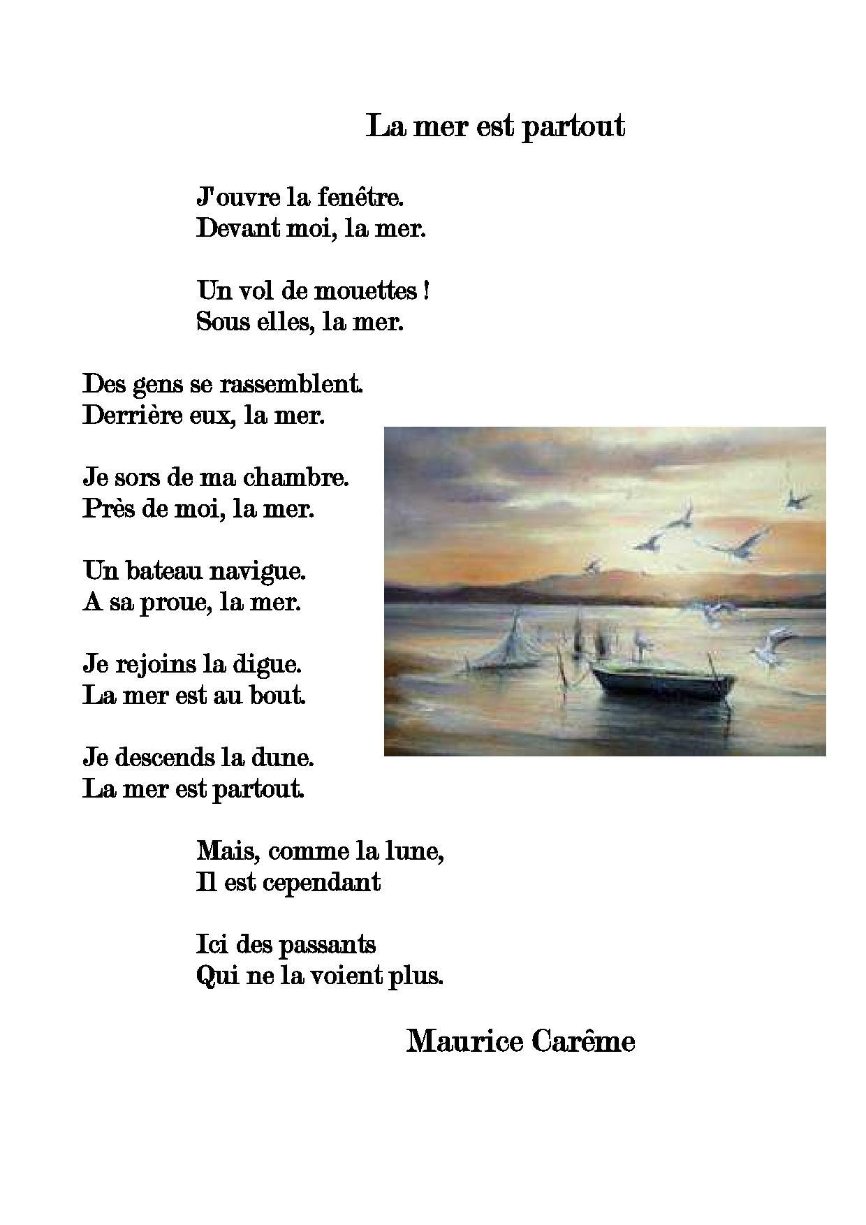 Poesie L Ecole De Maurice Careme : poesie, ecole, maurice, careme, Partout,, Maurice, Carême, L'école, Globetrotteuses