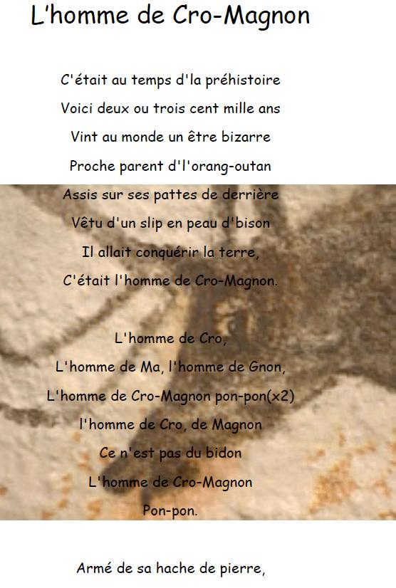 L Homme De Cro Magnon Chanson : homme, magnon, chanson, L'homme, Cro-Magnon, Cartable, Ouvert