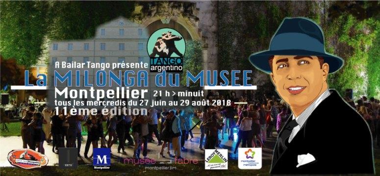 ★ Ce soir, merc. 27 juin, 1ère MILONGA DU MUSEE 2018 (Montpellier) ★