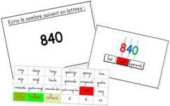 Nouvel atelier : écrire les nombres en lettres