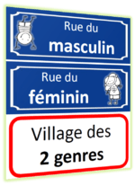 Le Village Des Deux Genres : village, genres, Féminin, Masculin, (Découverte), Maitresseunefois