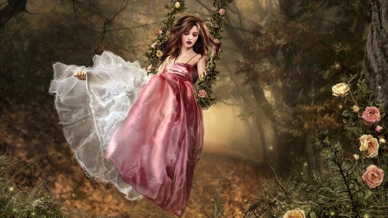 Fantasy hölgy háttérképek