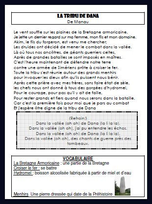 Dans La Vallée De Dana Parole : vallée, parole, Musique, (page, Maliluno