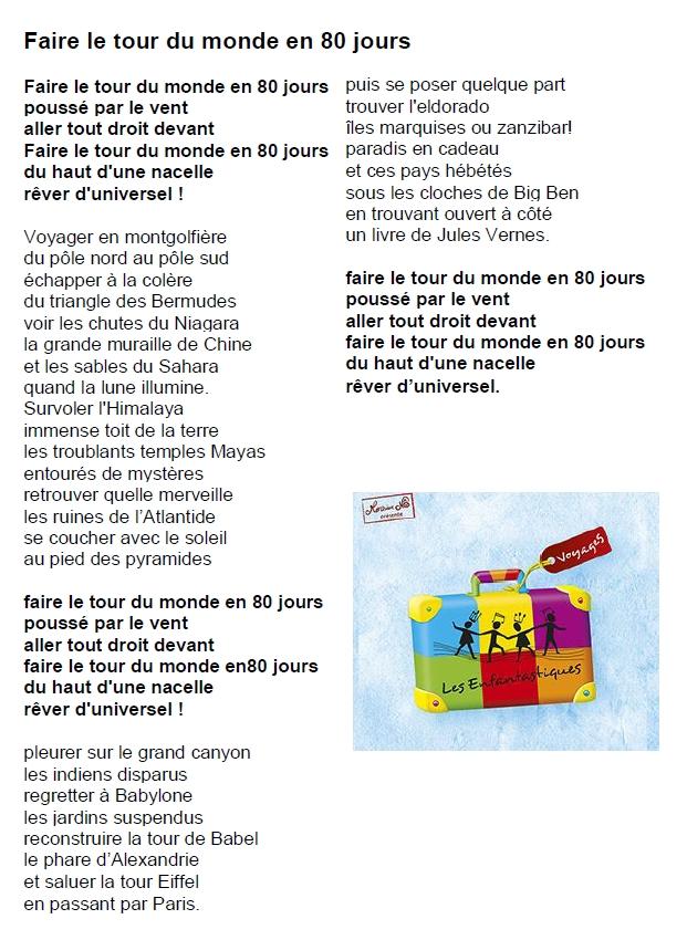 Faire Le Tour Du Monde En 80 Jours Chanson : faire, monde, jours, chanson, Chant, Monde, Jours