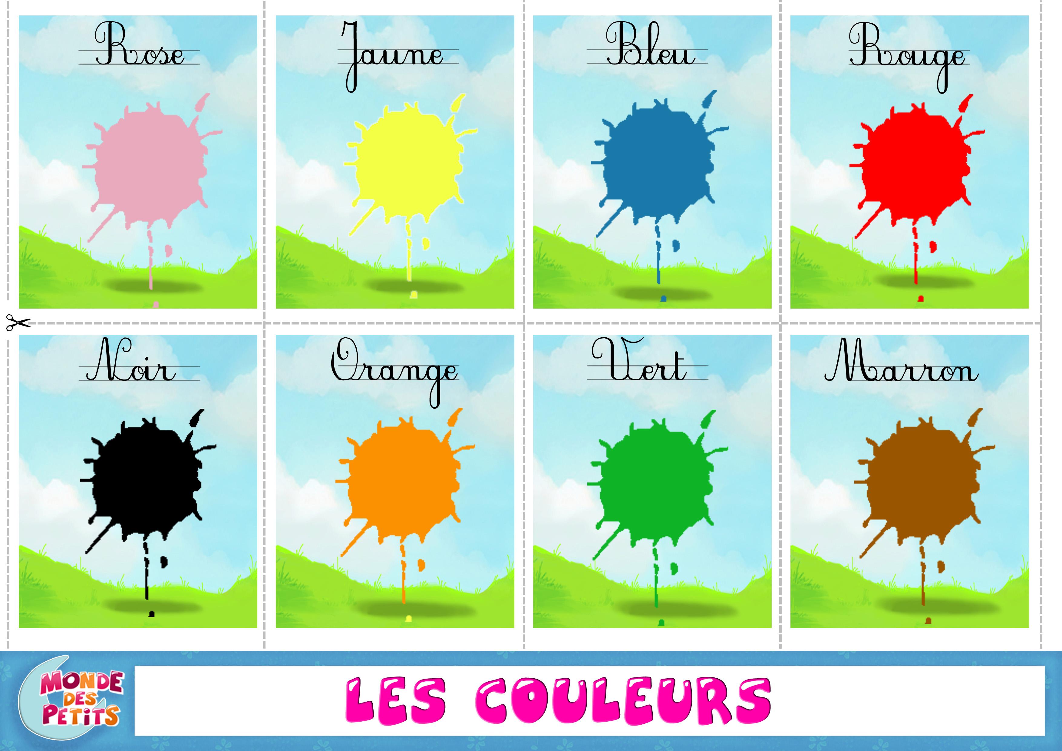 Pour apprendre les couleurs  Le blog de Kikyne
