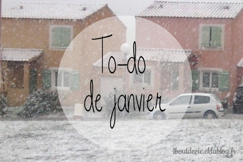 To-do de janvier