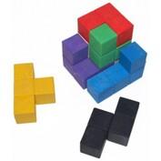 Cube SOMA 6 cm composé cubes 2 x 2 cm en bois recomposé écolo