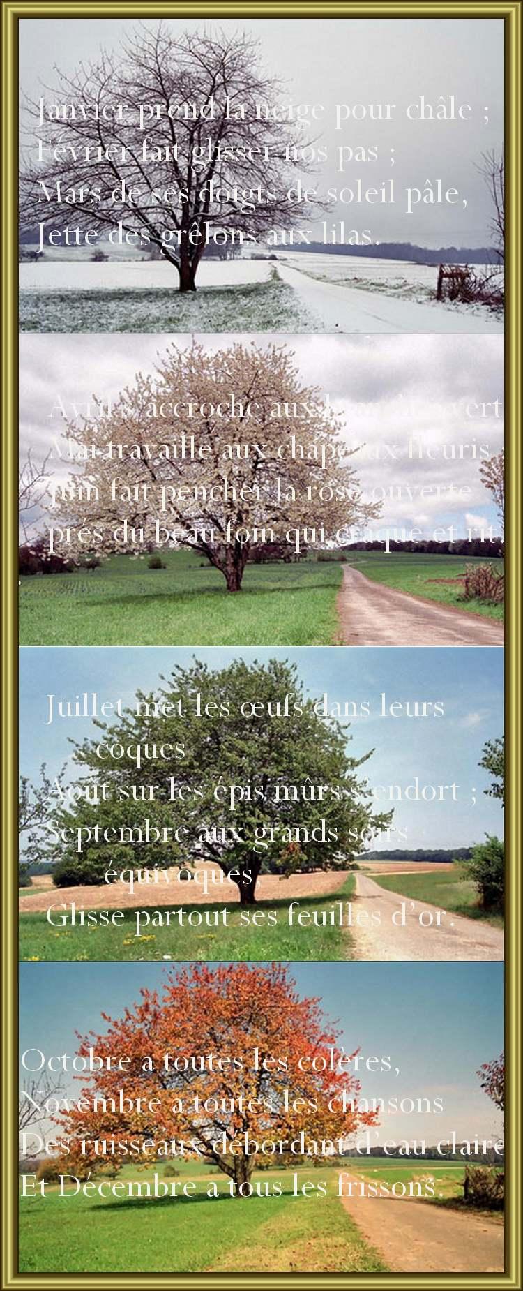 Poésie La Ronde Des Mois : poésie, ronde, Ronde, Mois