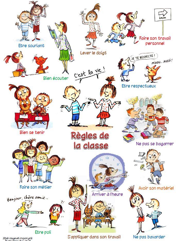 Heure De Vie De Classe : heure, classe, Règlement, Classe, Affiches, Diapo