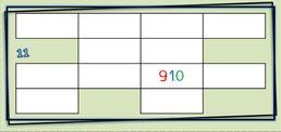 Tableau des nombres : grilles à compléter