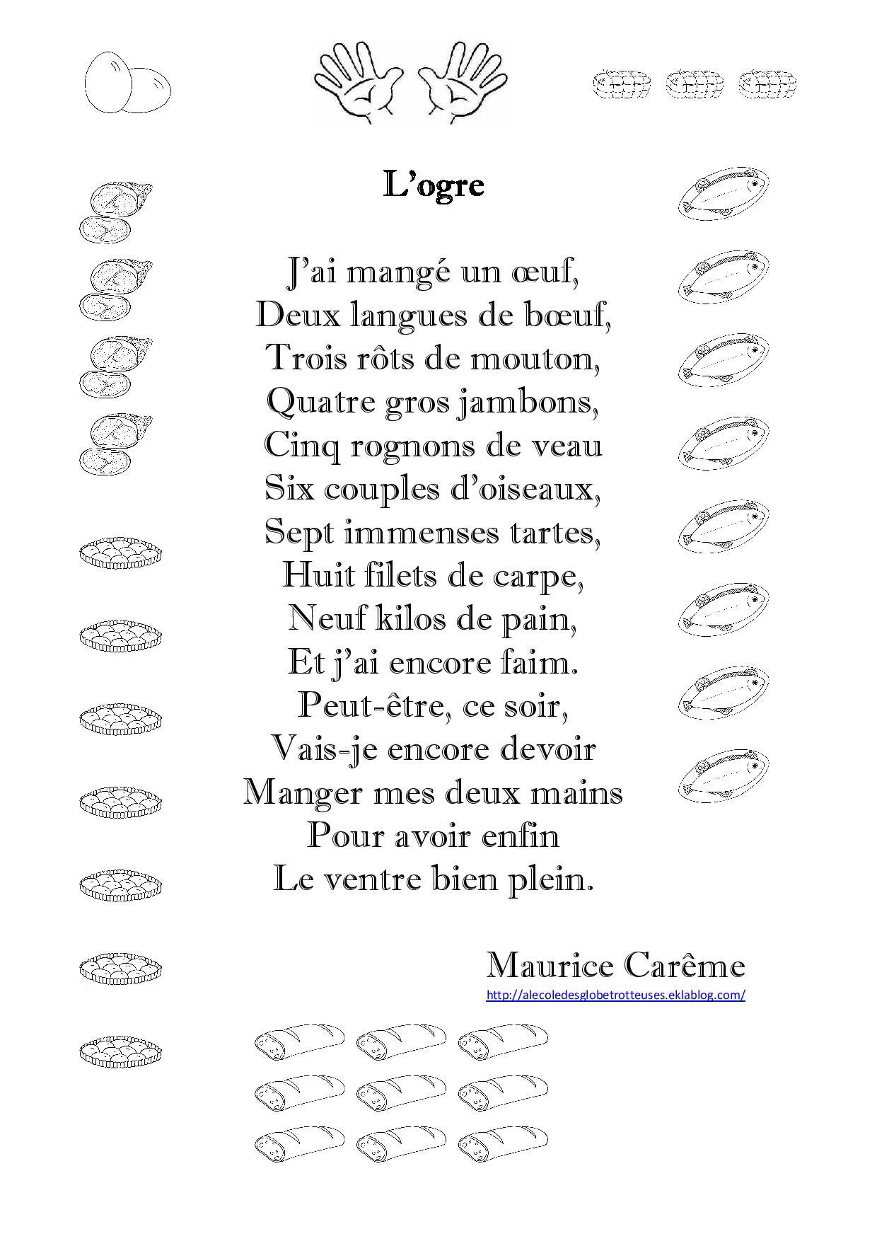 Poesie L Ecole De Maurice Careme : poesie, ecole, maurice, careme, L'ogre,, Maurice, Carême, L'école, Globetrotteuses