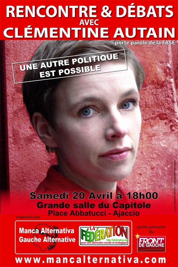 Clémentine Autain Mickaël Garnier-lavalley : clémentine, autain, mickaël, garnier-lavalley, Rendez-vous, Ajaccio..., MANCA, ALTERNATIVA