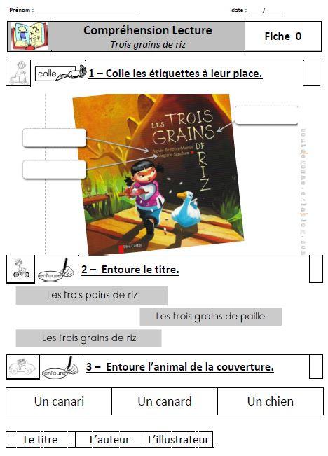 Tapuscrit Les Trois Grains De Riz : tapuscrit, trois, grains, Trois, Grains, Adapté, Ludu,, Chouette, CE1-CE2
