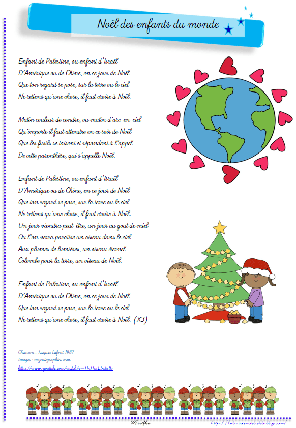 Chansons De Noel Pour Enfants : chansons, enfants, Noël, Enfants, Monde, Luluarcenciel