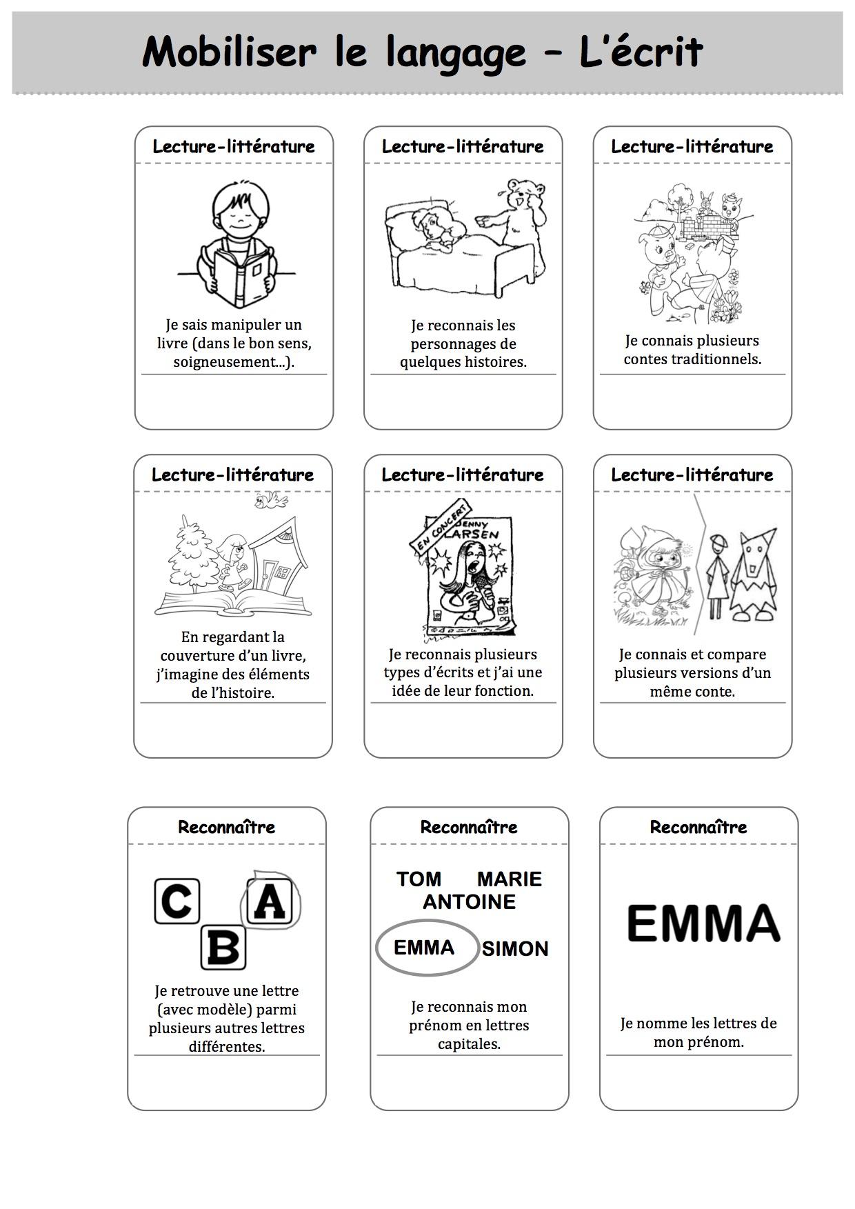 Carnet De Suivi Des Apprentissages : carnet, suivi, apprentissages, Carnet, Suivi, CYCLE, PS/MS/GS, Classe, Luccia