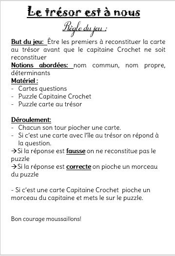 L'ile Au Tresor Questionnaire Reponse : l'ile, tresor, questionnaire, reponse, Grammaire, (page, Maitress'Ellen