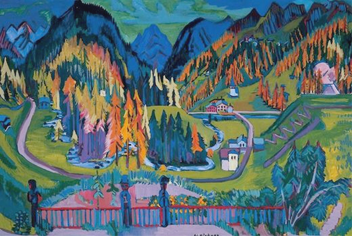 Ernst Ludwig Kirchner, Vallée de Sertig en Automne, 1926