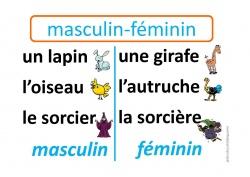 Affiche masculin féminin