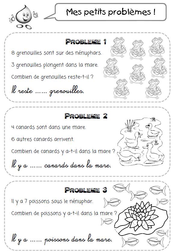 Petit Problème... : petit, problème..., Petits, Problèmes, Thème, L'eau, Lilipomme