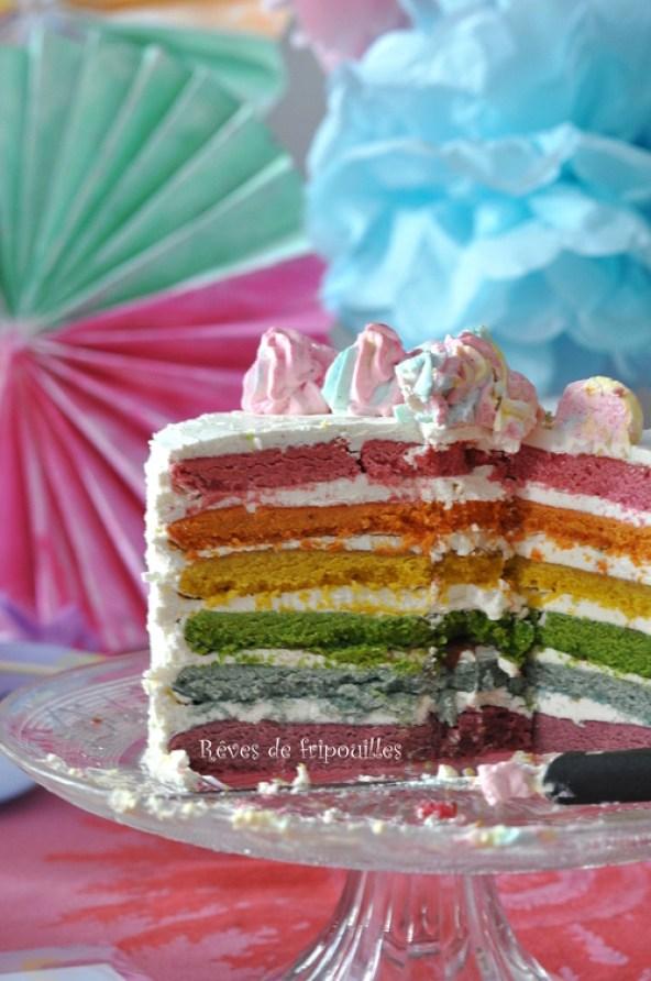 Rainbow cake licorne recette et tutoriel