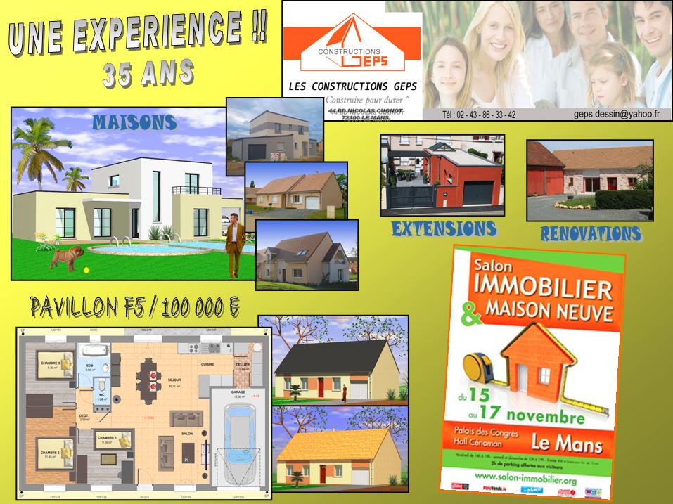 6me Salon de limmobilier et de la maison neuve de la Sarthe  LES CONSTRUCTIONS GEPS