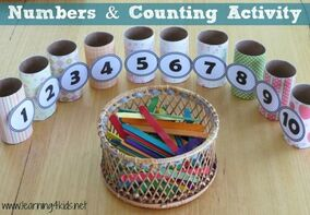 INVITATION TO PLAY with Numbers and Counting Activity - learning4kids: