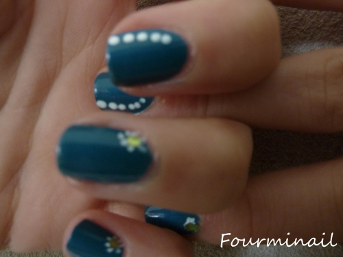 Nail art - catrice no snow as petrol