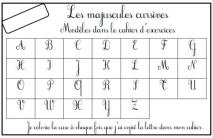 Lettres majuscules cursives ...rugueuses !