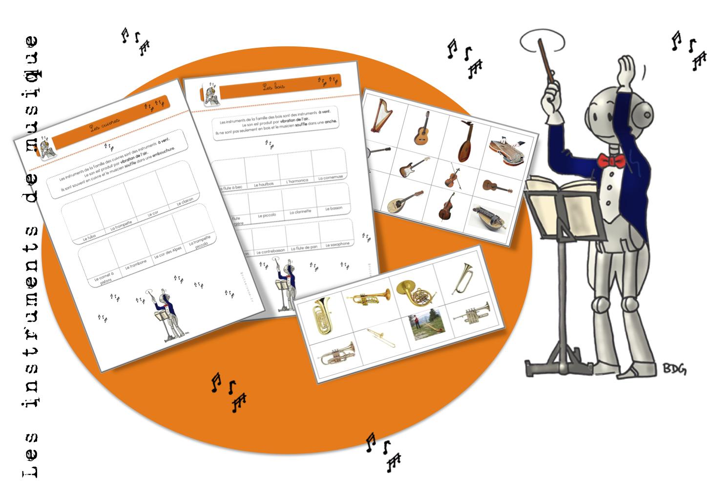 Les instruments de musique exercices bout de gomme - Photo d instrument de musique ...