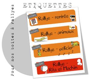 Etiquettes pour boite à rallyes