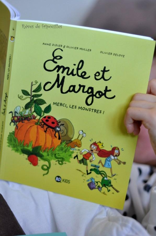 Emile et Margot des BDs chouettes présentées par ma grande de 7 ans