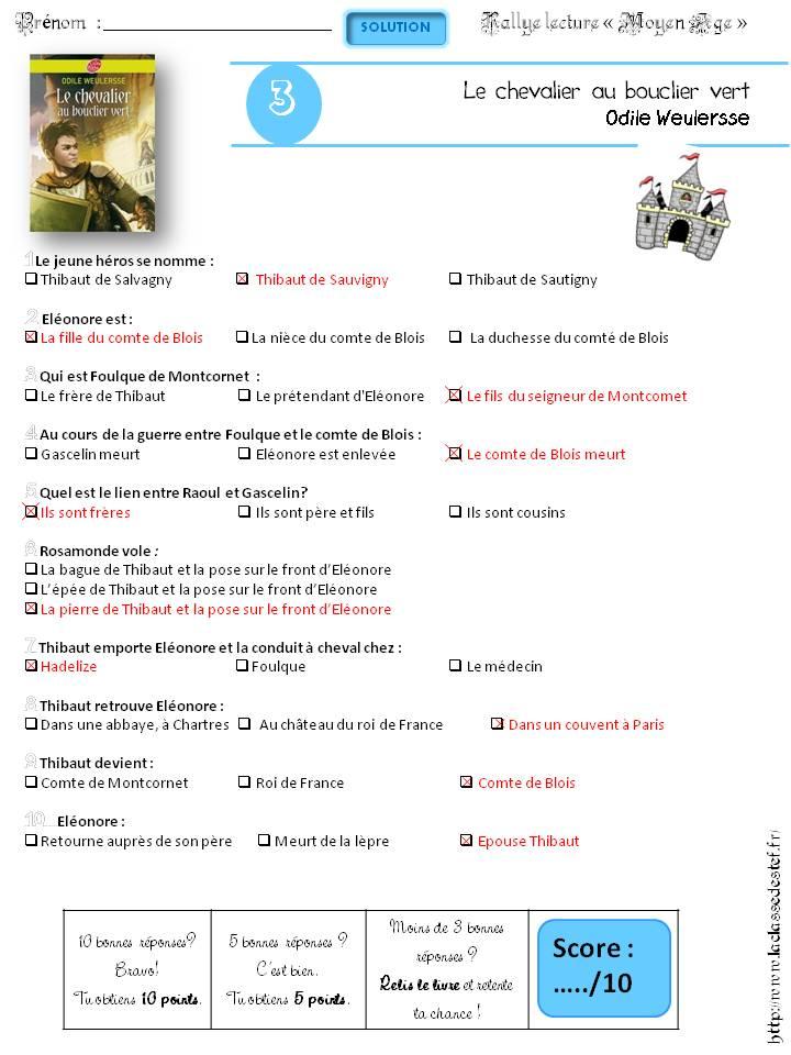 La Fille Du Comte Hugues : fille, comte, hugues, Rallye, Lecture, Moyen, Classe, Stefany