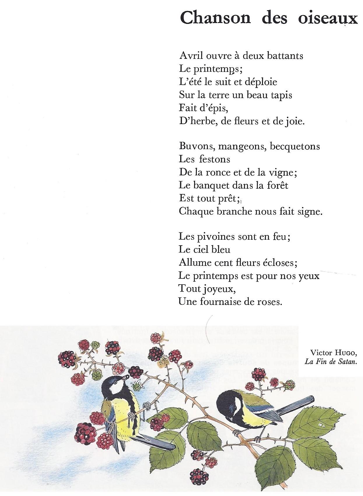 Chanson D Automne Victor Hugo : chanson, automne, victor, Poèmes, (page, Littérature, Primaire