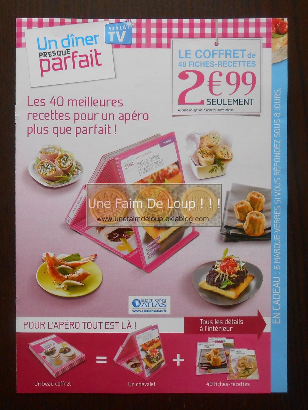 Un Diner Presque Parfait Recette : diner, presque, parfait, recette, Collection, Coffret, Fiches, Recettes, Diner, Presque, Parfait