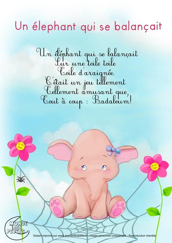 Un éléphant Qui Se Balancait : éléphant, balancait, Balançait, Coffre, Jouets, Breizhinous