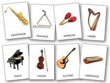 Référentiel d'images instruments de musique, imagier instruments de musique