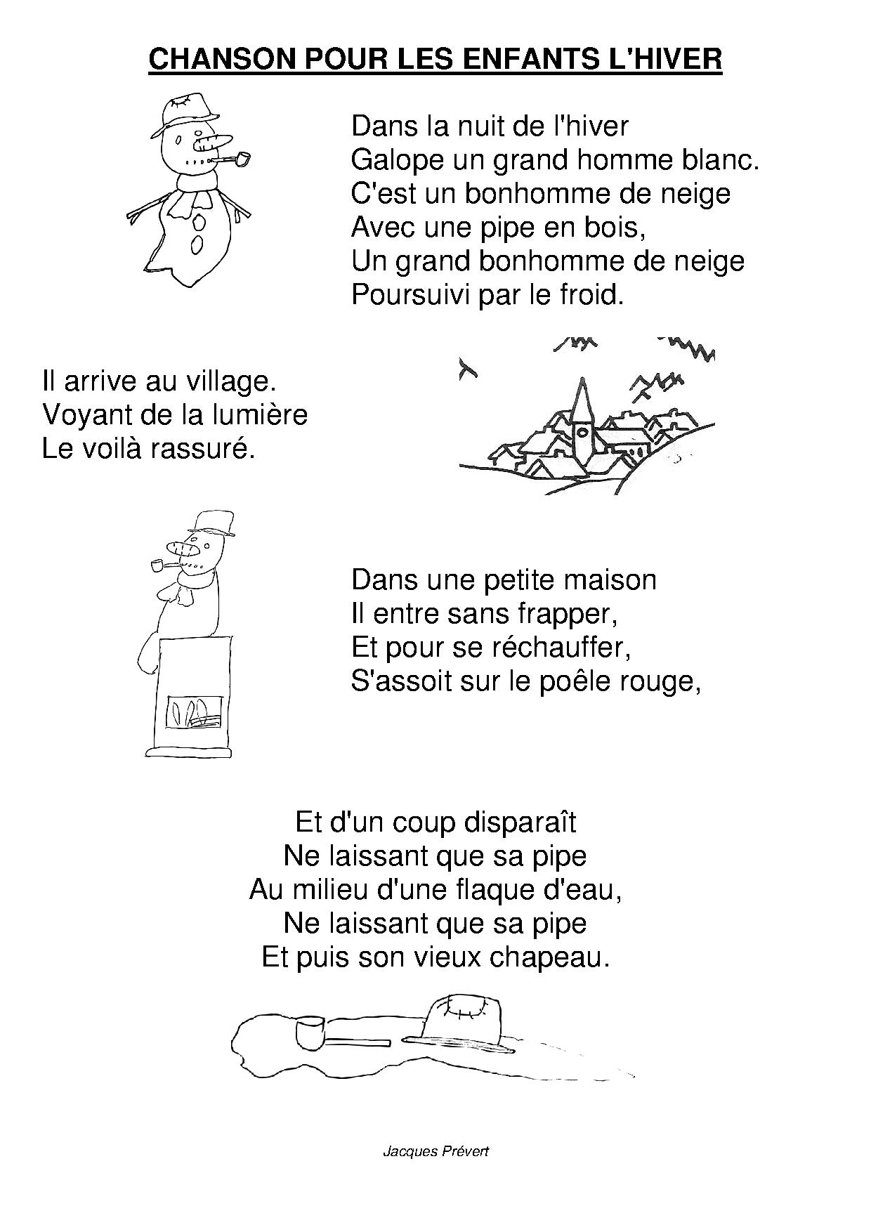 Chanson Pour Les Enfants De L'hiver : chanson, enfants, l'hiver, Chanson, Enfants, L'hiver, Maternelle, Camille