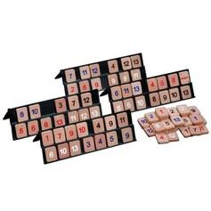 Jeu de tuiles chiffres en bois 52 pièces