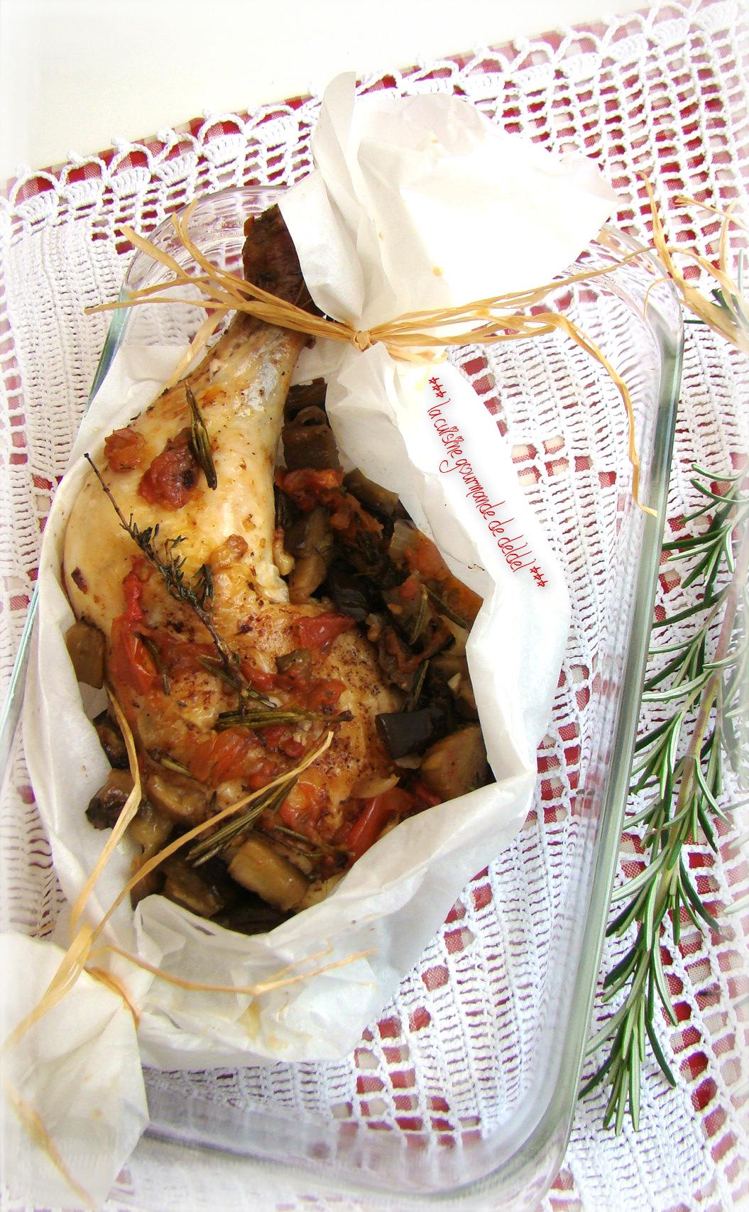 Cuisse De Poulet En Papillote : cuisse, poulet, papillote, CUISSE, POULET, THYM,ROMARIN, LÉGUMES, PAPILLOTE, Cuisine, Gourmande, Deldel