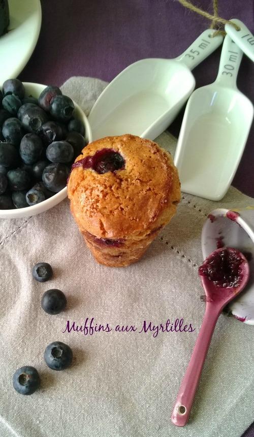 Muffins aux Mrtilles