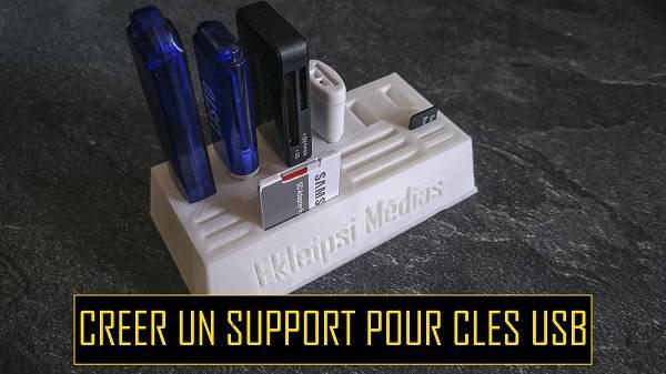 support de clés USB imprimé en 3d