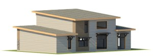 Southern elevation of Ottawa passive house by EkoBuilt