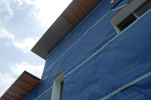 Passive house roof soffit