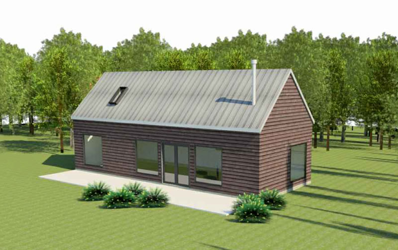 The Swede coach house plan exterior