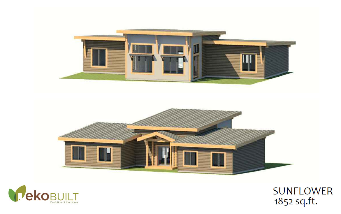 Sunflower cottage kit plan by EkoBuilt