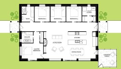 Floorplan for custom summer home in Round Lake