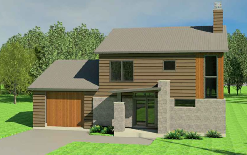 The Fiddlehead 2 house plan exterior