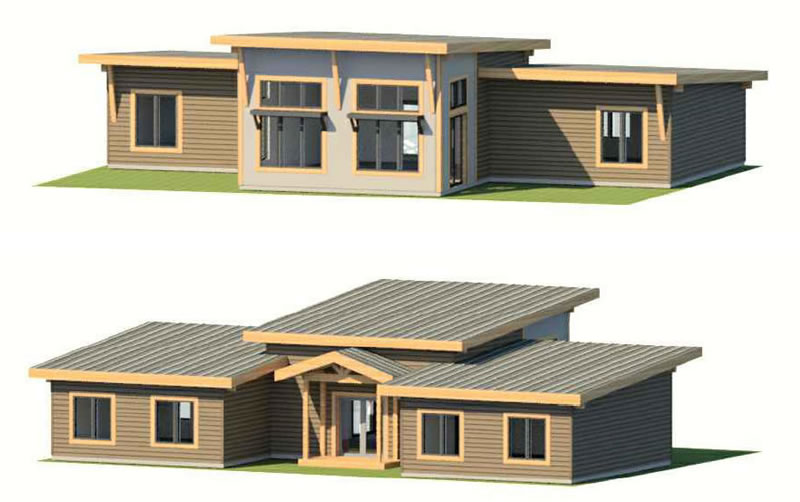 The Sunflower house plan exterior